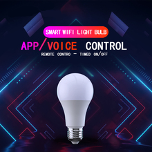 Smart WiFi Light Bulb 4.5W/ 6.5W RGB Magic Light Bulb Lamp Wake-Up Lights Compatible with Alexa and Google Assistant Dropship