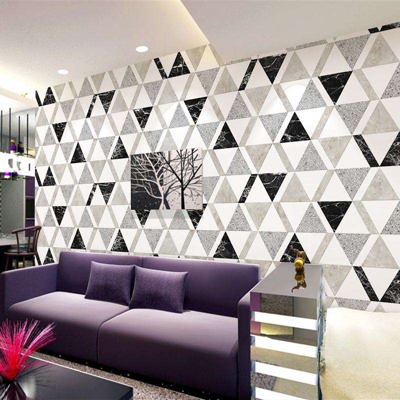Custom Size 3D Photo Wallpaper Modern Abstract Geometric Lattice Living Room TV Background Wall Decoration Painting Wall Paper custom 3d mural wallpaper european style painting stereoscopic relief jade living room tv backdrop bedroom photo wall paper 3d