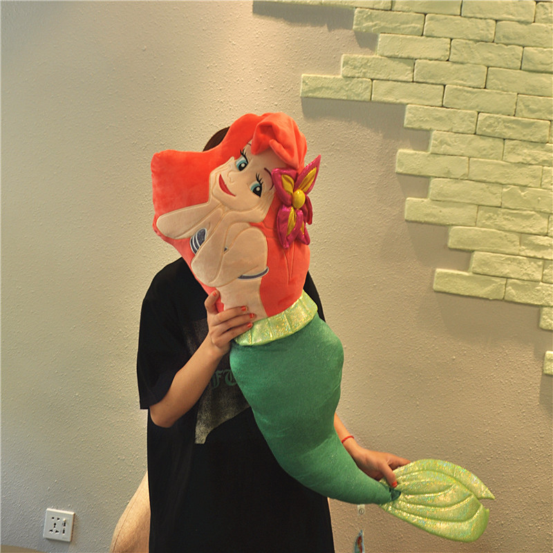 Large size 120cm The Mermaid Ariel Princess Plush Toy Cute Soft Stuffed Doll Big Pillow Cushion For Children Girls Birthday Gift large watermelon style plush toy pillow doll home cushion birthday day gift