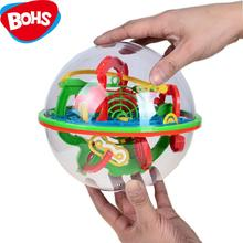BOHS 100 Steps Small Big Size 3D Labyrinth Magic Rolling Globe Ball Marble Puzzle Cubes Brain