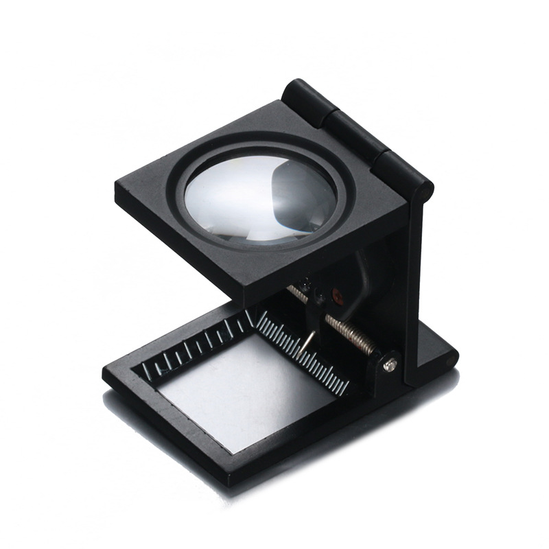 Cloth//Jeweler 30x Magnifying Glass Metal Magnifier Loupe with Scale 3 LED Lights