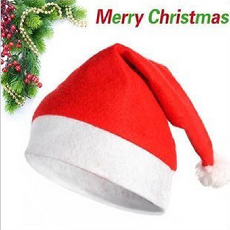Rojo Navidad Santa Claus sombrero para adultos y niños grueso Ultra suave  peluche Chirstmas Caps decoraciones y regalos Adornos Navidad 9ea8a4ddd3a