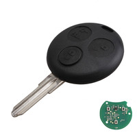 3 Buttons 433MHz Remote Key Fob Blade For Smart Fortwo Forfour City Roadster New