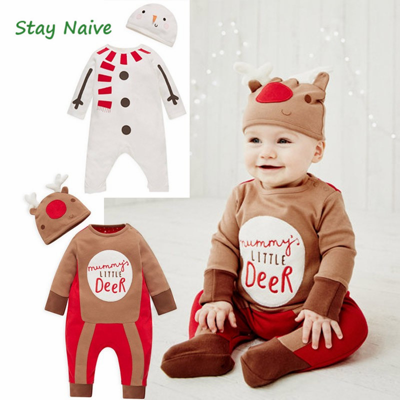 2016 Christmas Baby rompers Costume kids newborn clothes long sleeveIn the spring and autumnchildren infant clothing