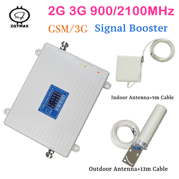 2g 3g repeater 900 2100 dual Band  gsm  wcdma  Cell Phone Signal Booster cellular amplifier for cell phone home