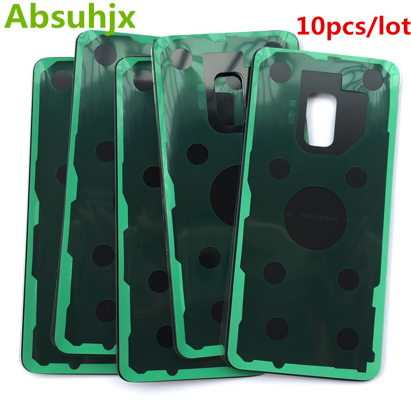 Absuhjx 10pcs Back Glass Rear Door for SamSung Galaxy S9 Plus  Battery Cover Housing Case(China)