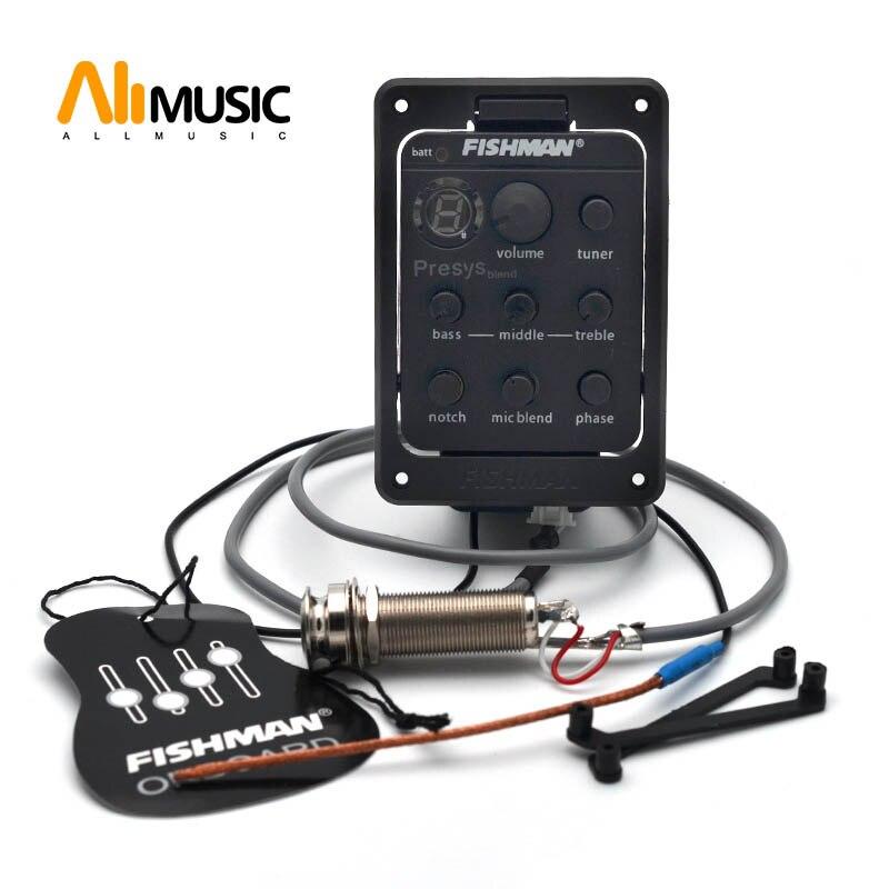 10個の高品質4バンドEQギタープリアンプEQとチューナーアンダーサドルピックアップエアーツール用コンプレッサー