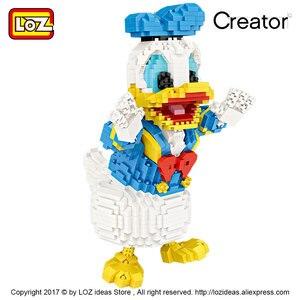 Image 5 - لوز كتل صغيرة أشكال كرتونية لطيفة على شكل حيوانات كرتونية لبنات البناء الماسية ألعاب تجميع بلاستيكية ألعاب تعليمية للأطفال 9038