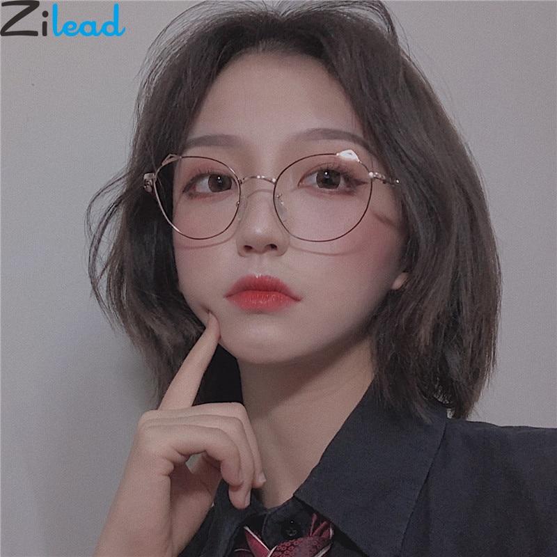 Zilead Metal Cat Ear Reading Glasses Women&Men Cat Eyes Clear Presbyopia Eyeglasses Eyewear Glasses With Diopter 0to+4.0