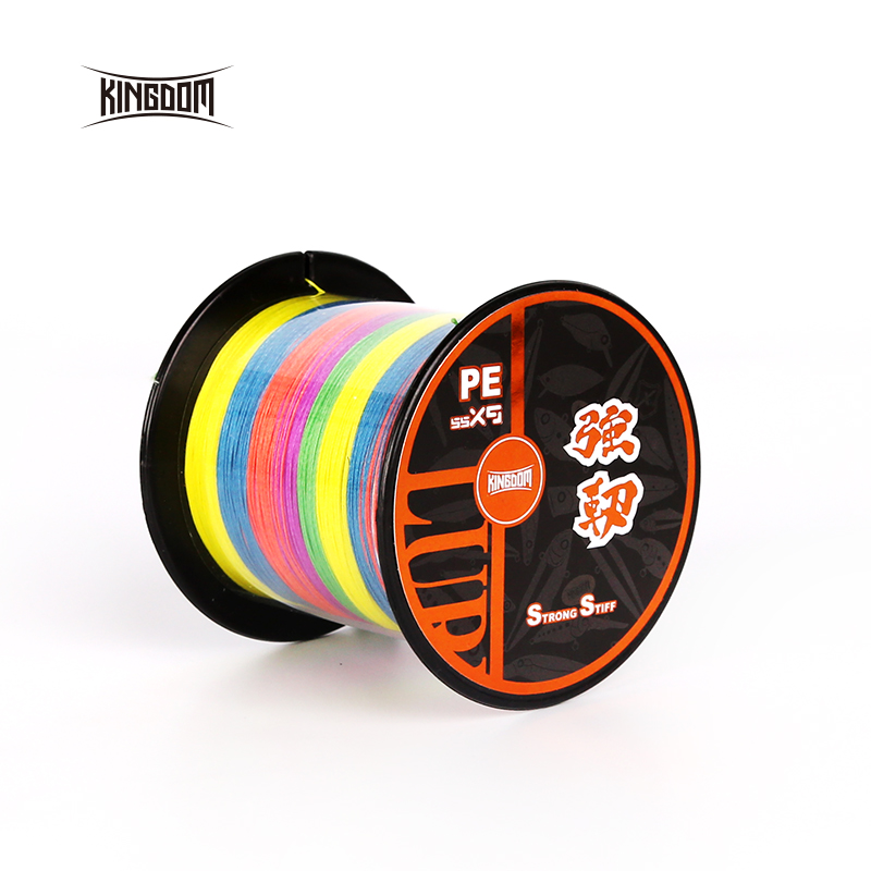 Kingdom Fishing Lines 9 Strands Braided PE Line Super Stiff 300m 500m Smooth Candy Color Pull