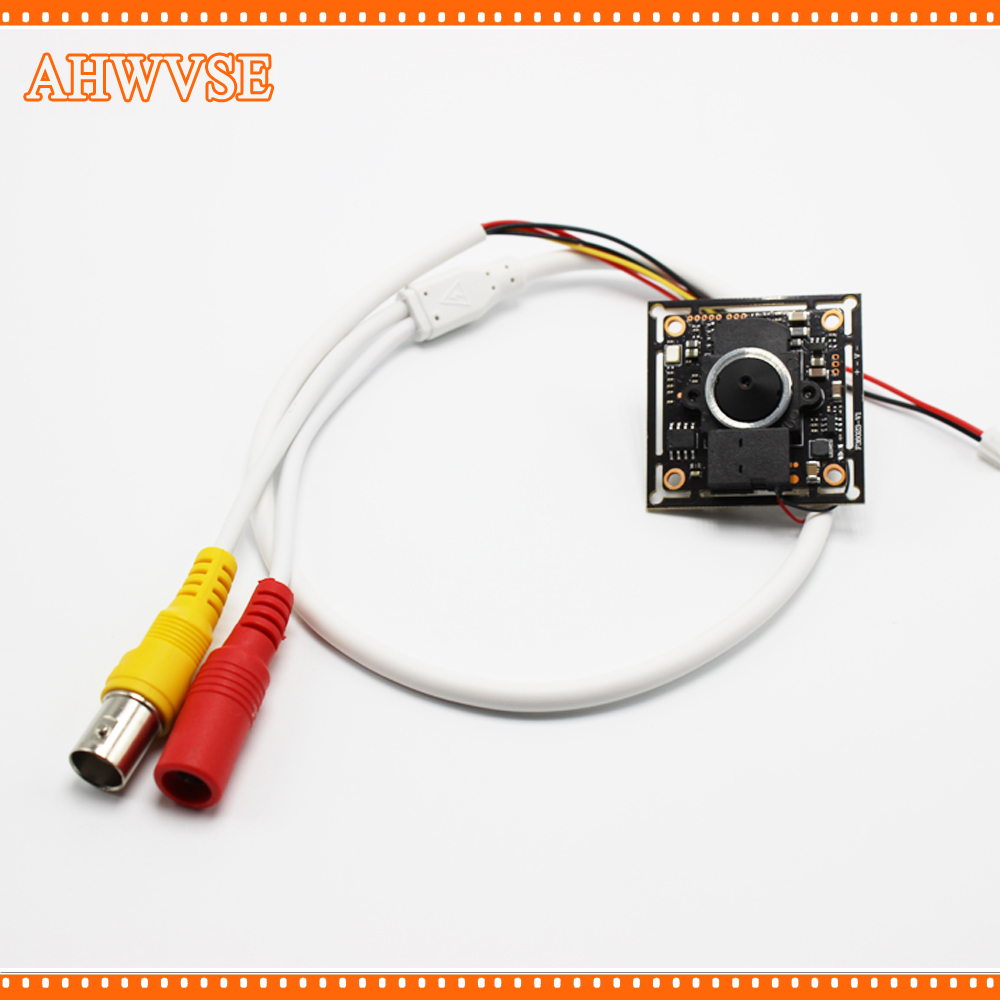 AHWVSE 2000TVL cctv ahd mini camera module with 3.7mm lens PAL/NTSC