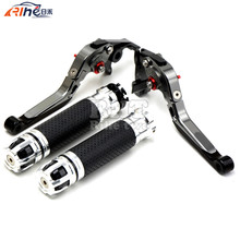Handlebar Motorcycle Handle Bar Grips Adjustable Clutch Brake Levers For KAWASAKI Z750 (not Z750S model) 2007 08 09 10 11 2012