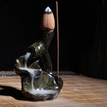 Mini Ceramic Incense Burner Backflow Small Ornaments Gourd Buddhas Hand Censer