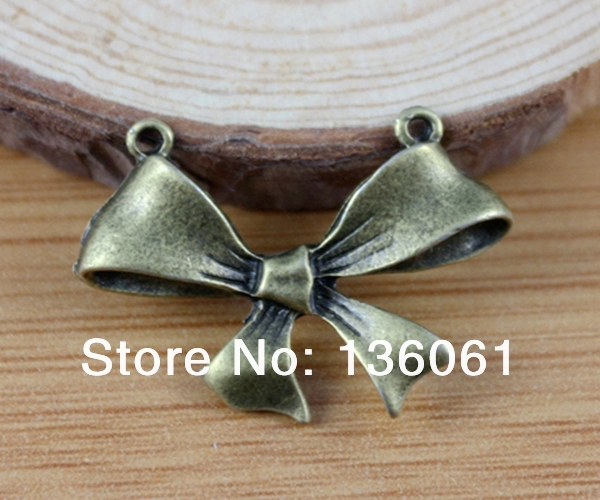 5Pcs Coeur de quatre feuilles Trèfle 2 trous Charms pour bracelet BONNE CHANCE PENDENTIFS ARGENT