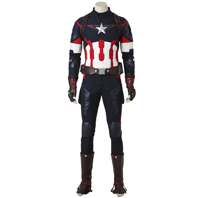 be53773973 Captain America The Avengers Age of Ultron Cosplay Costume Steve Rogers  Halloween Outfit Adult Superhero Men Custom Made Costume