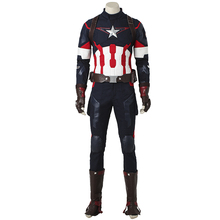 Captain America The Avengers Age of Ultron Cosplay Costume Steve Rogers Halloween Outfit Adult Superhero Men Custom Made Costume