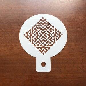 Image 2 - 6Pcs Gefeiert Die Eid Festival Arabisch Ramadan Thema Kaffee Kunst Schablonen Ramadan Muslim Eid Festival Kuchen Dekorieren Werkzeuge
