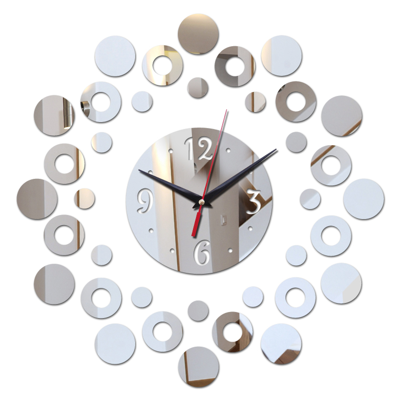 modern new 3d acrylic clocks home decor free shipping living room wall clock sticker still life design