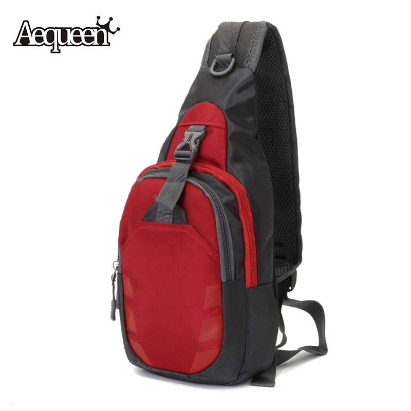 AEQUEEN 2017 New Nylon Chest Bag Men Women Waterproof Crossbody Shoulder Bags Back Pack Rucksacks Messenger Bag Diagonal Package
