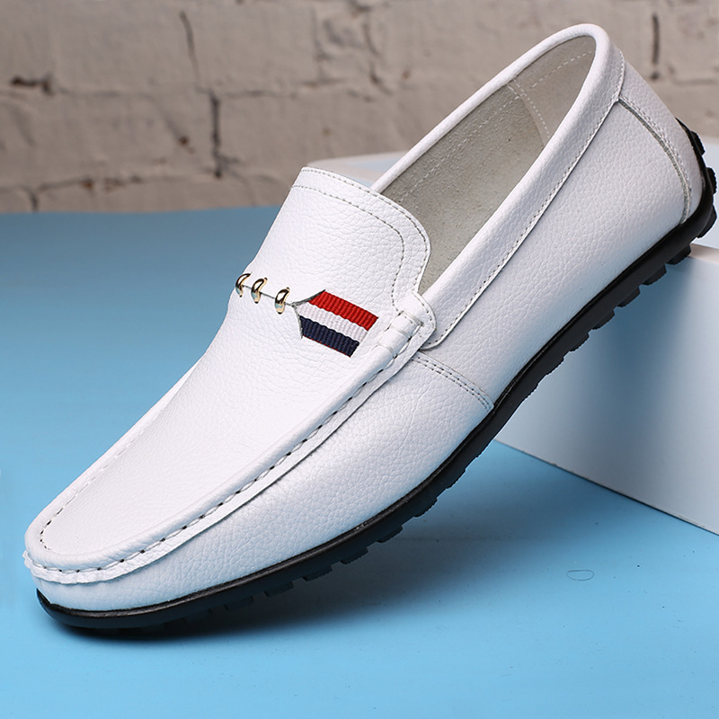 Best High Quality Men shoes fashion Moccasins Loafers Leather Shoes Men's Flats Slip On Driving Shoes hot high quality men loafers leather round toe slip on casual shoes man flats driving shoes hombre zapatos comfortable moccasins