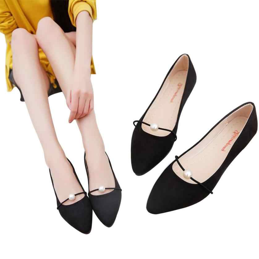 Detail Feedback Questions about Sleeper  4005 Women s Solid Color Suede low  Heel Pearl Pointed toe Casual Shoes DA on Aliexpress.com  6bd620b9b