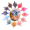 Delicate Hot! Lovely Baby Girls Headbands Striped Flower Headbands For Girls Infant Hair Band Ma11 xsxl wholesale