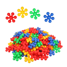 120PCS Building Blocks Kids Educational Toys, Tested for Children's Safety, STEM Toys Discs Sets, Interlocking Solid Plastic Toy