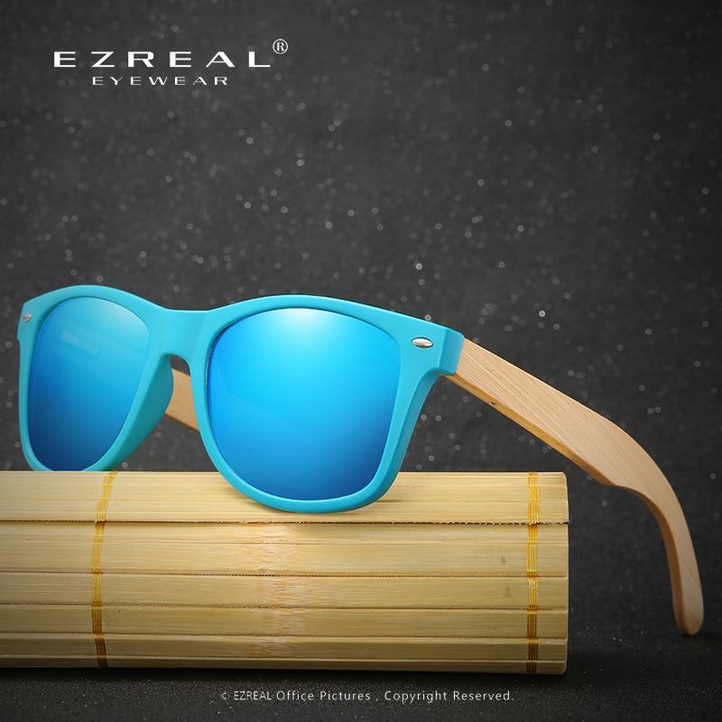 EZREAL Polarizing Glasses Men Bamboo Glasses for Driving Man Vintage Brand Polarized font b Gafas b