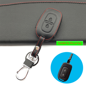 Image 2 - 100% leather car key case key cover for Renault Clio Dacia Logan Sandero Megane Modus Espace Kangoo keychain Remote control case