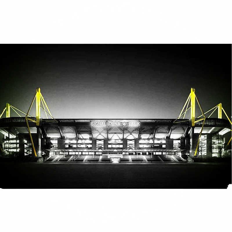 Classico Puzzle di Modelli Germania Signal Iduna Park Schwarz-Gelb Partita di Calcio Stadi FAI DA TE Mattone Giocattoli Bilancia di Carta Set di Concorrenza