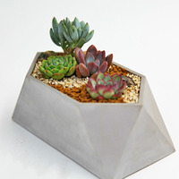 DIY Silicone Concrete mold Flower pot silicone Geometric moulds Silicone cement mould 3D Vase mold