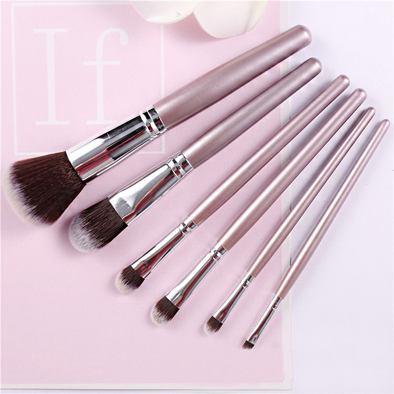 6pcs New Brand professional makeup brushes eyebrow eyeshadow powder fundation synthetic hair brush birthday sisters Best gift brand new 2015 6 48 288 a154