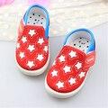 Stock liquidación estrellas brillan Baby Girl Boy zapatos de la zapatilla de deporte para las muchachas del muchacho del todo estampado de estrellas para niños del bebé 0-30 meses
