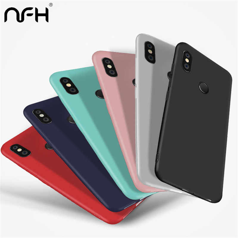 Luxury Matte Silicon Phone Case For Huawei Mate 20 P20 Mate 10 lite Pro Cover Coque Black Soft TPU Case On Honor 7A 8X Max Cases