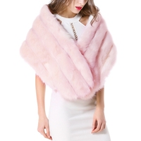 148*30 CM Fashion Girls Faux Rabbit Fur Poncho Shawl Ladies Elegant Vintage White Shawl Stole For Wedding Party Formal Dress