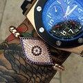 Gold Hamsa Fatima Hand Blue Turkey Evil Eye Bracelet Gold Plated Women Bracelets Evil Eye Charms Bracelets & Bangles CZ Jewelry