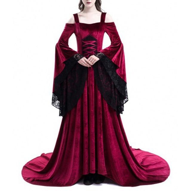 Vintage Renaissance Princess Gothic Dress Costume Medieval Gown 1970s Long Dress 1