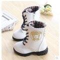 Nuevos 2016 niños zapatos de invierno botas de Martin botas botas de nieve niñas niños El Envío Libre de Corea Princesa de terciopelo marea 1-971