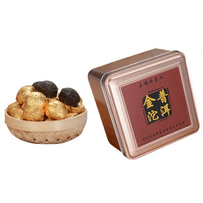 Yunnan Golden Mini TuoCha Ripe Puer Tea Chinese Tea Pu'er Pu Er Puerh for Health Care Slimming Body Skin