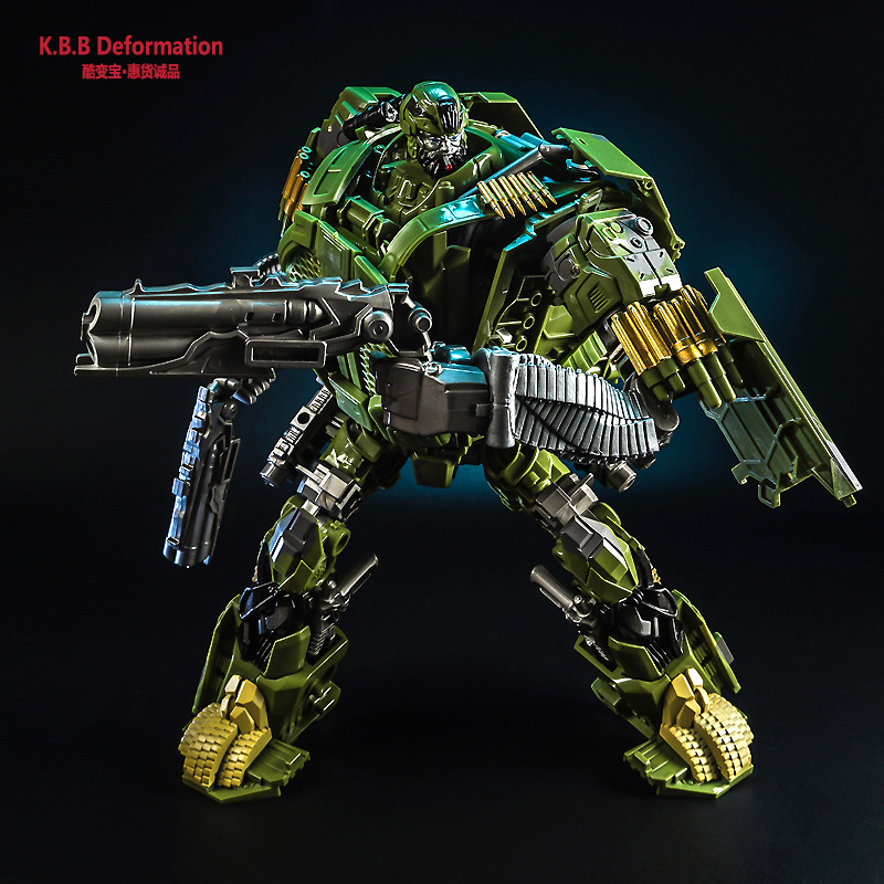 цена на 2018 IN Stock Transformation KBB TF Camouflage Hound Movie 4 Alloy Metal Oversize Edition Action Figure Deformation Boy Toys