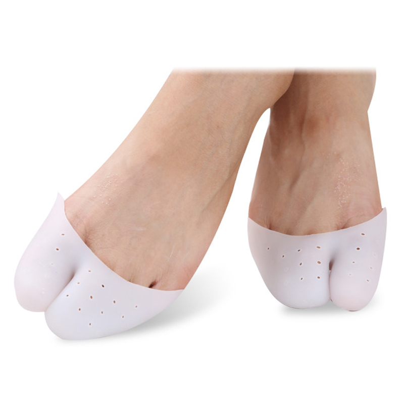 1pair Silicone Gel Soft Insoles Pads Toe Separators Hallux Valgus Corrector Forefoot Pad Ballet Shoe Toe Cap Covers Pains Relife