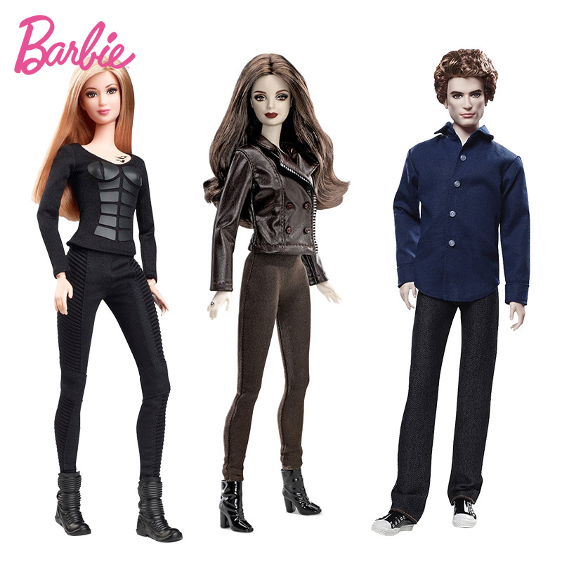 Original Barbie Doll Collector The Twlight Saga Bella Jasper Hunger Games Tris Christmas Birthday Gifts Genuine Barbie Dolls
