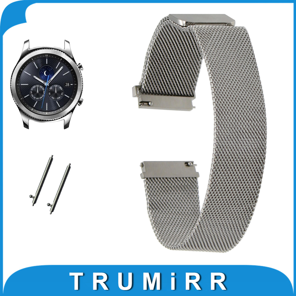 TRUMiRR Watchband Milanese Loop Strap for Samsung Gear S3 Frontier R760 / Classic R770 Magnet Watch Band Quick Release Bracelet france genuine leather watchband for samsung gear s3 classic frontier r760 770 double color watch band quick release wrist strap