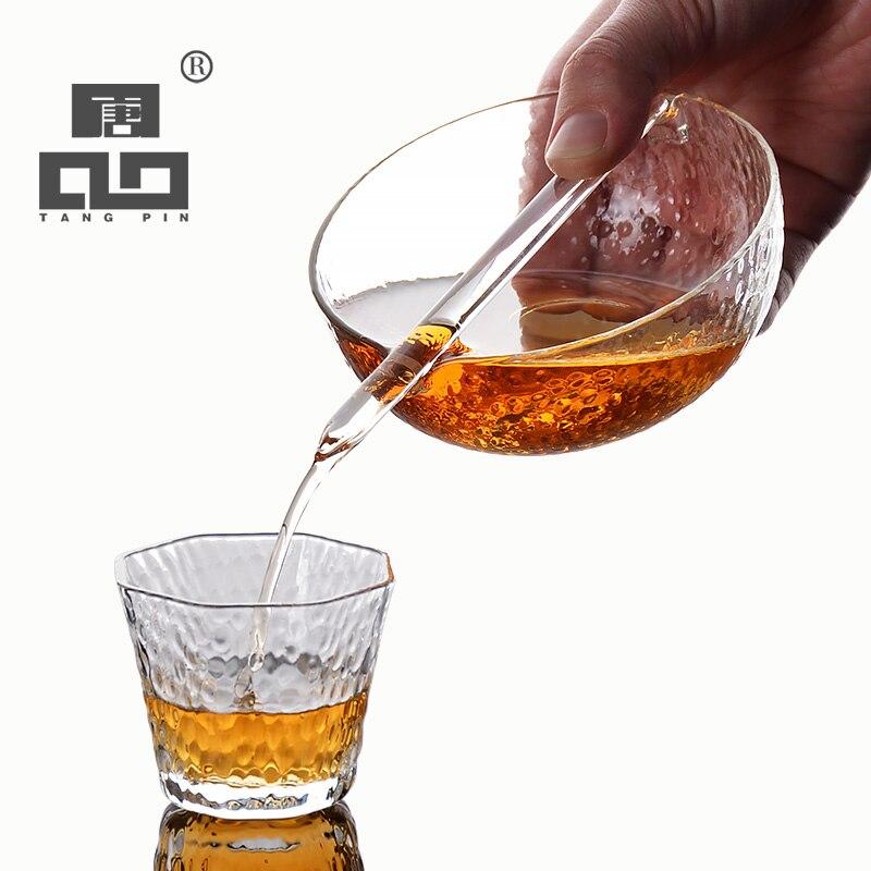 TANGPIN drinkware japanese heat resistant glass teapot kettles glass tea infuser chahai tea cup glass tea set