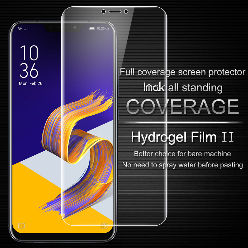 Imak sFor Asus ZE620KL Screen Protector Full Cover Hydrogel II Protective film for Asus Zenfone 5 5z ZE620KL ZS620KL not glass