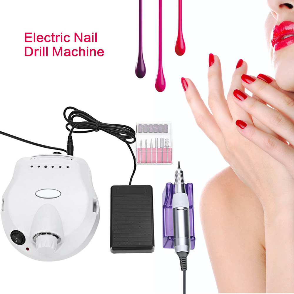 Professional 30000RPM Electric Nail Machine Manicure Drills Nail Grinding Drill File Bit Polishing Nail Pedicure Kit Manicurist