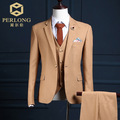 Tailor Made Mens 3 piece Suit 2017 Fashion Camel Blazer England Mens Designer Suits Customised Jacket+Vest+Pants Boyfriend Suits