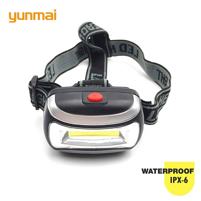 Neue Heiße Mini Kunststoff 600Lm LED Scheinwerfer Scheinwerfer verwenden 3xAAA Batterie Kopf Licht Lampe Taschenlampe Taschenlampe Für Camping Wandern angeln