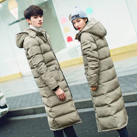 2016 New Clothing Jackets Business Long Thick Winter Coat Men Solid Parka Fashion Overcoat S