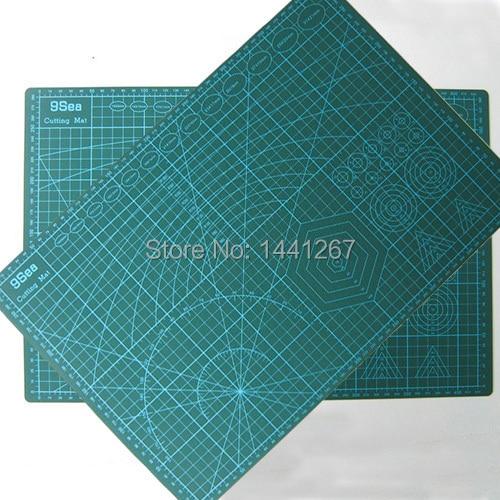 Ματ A3 45 * 30 * 0.3cm PVC 3-στρώμα Ανθεκτικό μαξιλάρι κοπής Υψηλή αυτοθεραπεία διπλής όψης ματ για κοπή χαρτιού μοντέλο παιχνιδιών